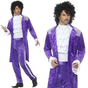 hommes ann es 80 ann e 1980 ann es 80 violet musicien prince costume d guisement ebay. Black Bedroom Furniture Sets. Home Design Ideas