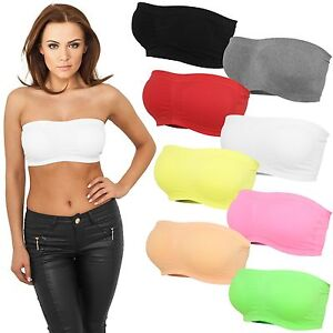 URBAN-CLASSICS-LADIES-PADS-BANDEAU-NEON-TOP-Tanktop-Stretch-Shirt-Sport-Dessous