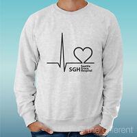 Men's Sweatshirt Light Sweater Grey Logo Hospital Grey's Anatomy Heart