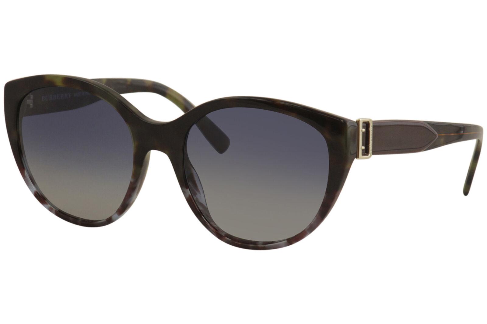 Burberry Women's BE4242 BE/4242 3636/4L Grey Havana Round Sunglasses 55mm