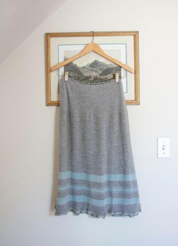 Antique 1900s Edwardian Grey Stripe Knit Petticoat