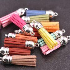 Mixed Velvet Tassel Pendant Charms Bag Key Chain Decor Craft Jewelry Making