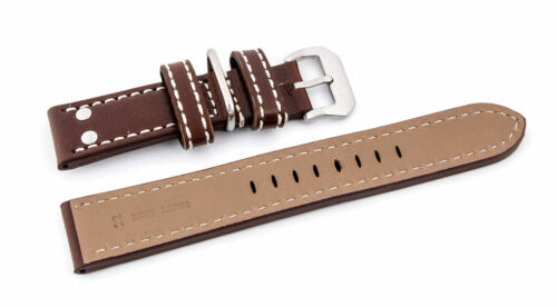 24 mm Uhrenarmband Dornschließe Flieger Extra Stark schwarz  22 mm 26 mm