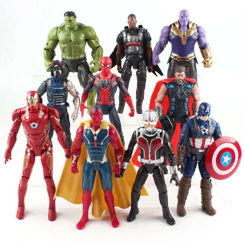 Marvel Avengers Infinity War Hulk Iron Man Thanos Vision Action Figure Model Toy