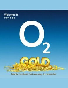 O2 Easy Number Pay As You Go PAYG SIM Card Memorable ...