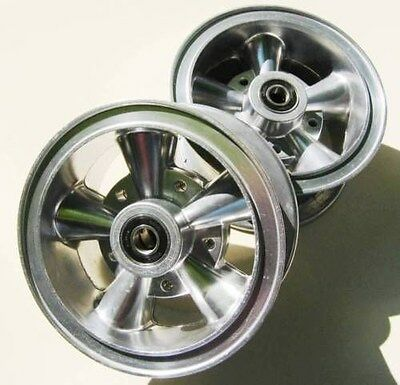 2 Mini Bike Go Kart Astro Alloy 6 Aluminum 2 Piece Wheels Rims Crager Like Ebay