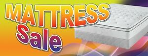 3ft x 8ft Mattress Sale (rnbw) Vinyl Banner -Alt to Banner Flag 3'x8' (0100)