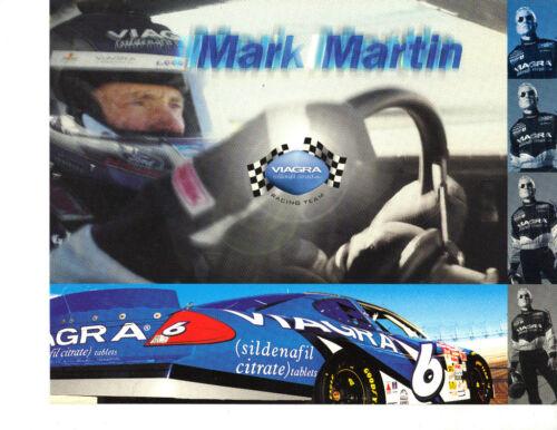 "2001 MARK MARTIN /""VIAGRA/"" #6 NASCAR WINSTON CUP SERIES POSTCARD"