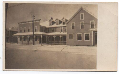 1910 Rppc Postcard Of Street Scene With Avondale Hotel Herington Kansas Delicate