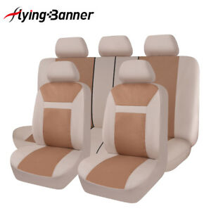 Jacquard-Car-Seat-Covers-Universal-Airbag-Compatible-Flying-banner-van-beige