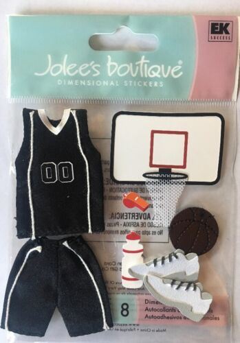 """Jolee/'s Boutique /"""" Basketball/"""" Dimensional Stickers"""