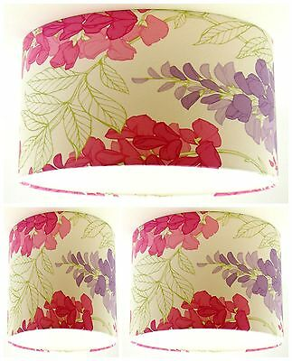 Lampshade Handmade with Laura Ashley Tatton Champagne Glitter Wallpaper FREE P/&P