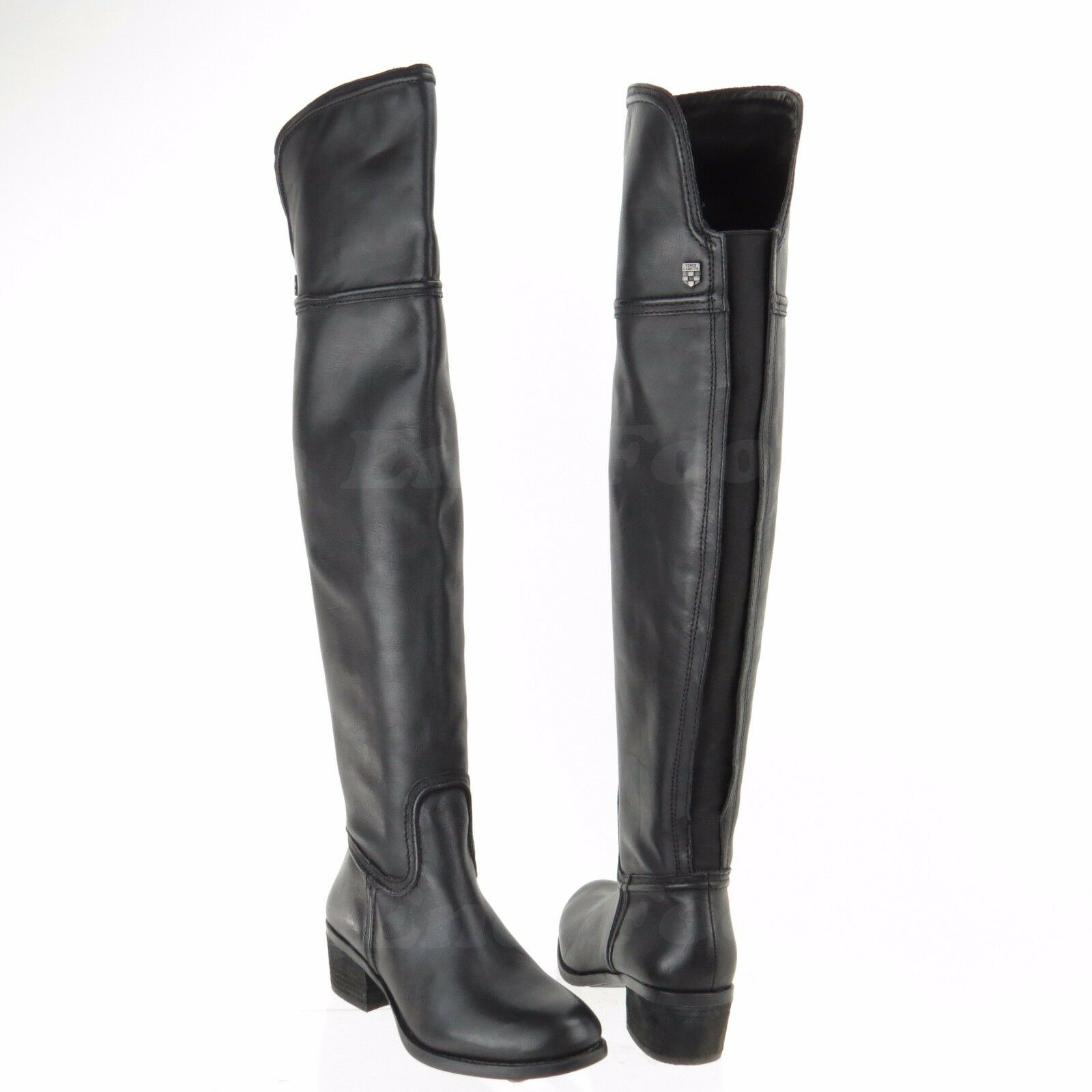 Vince Camuto Baldwin Wouomo nero Leather Tall Over the Knee stivali Sz 5 M NEW
