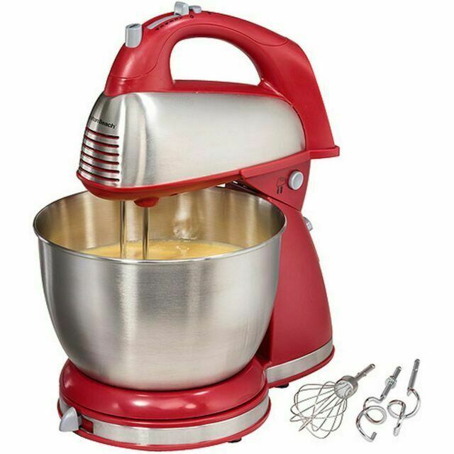 Hamilton Beach 64654 Classic Hand and Stand Mixer - Red