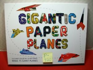 STERLING INNOVATION GIGANTIC PAPER PLANES-MAKES 75 GIANT PLANES IN 10 PATTERNS