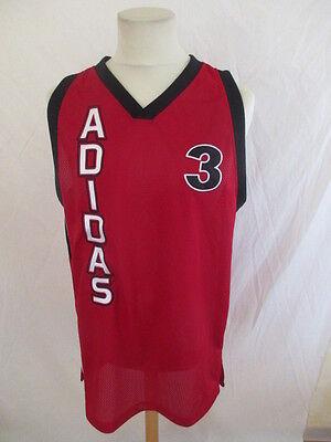 Maillot de basket vintage N° 3 Adidas Rouge Taille M   eBay