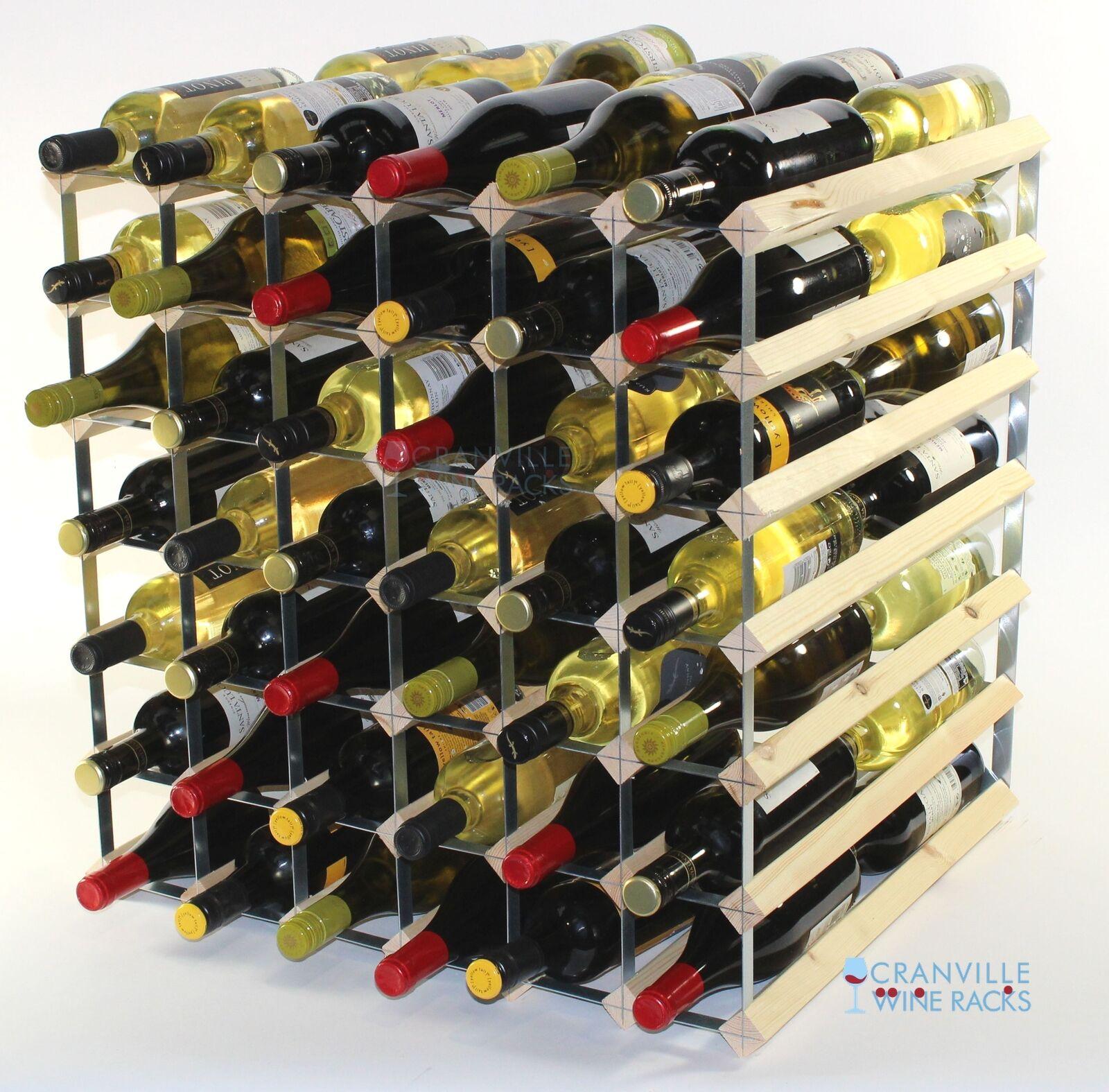 Doppel Tiefe 84 Flasche Kiefer Holz und Metall Weinregal gebrauchsfertig