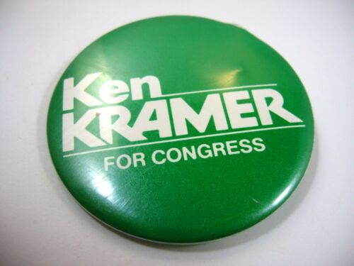 Vintage Pin Button Ken Kramer for Congress Larger Size