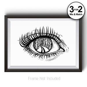 Paysage Eye Fashion 100% Coton Art Imprimé-promenade à Travers La Forêt Nature-afficher Le Titre D'origine CoûT ModéRé