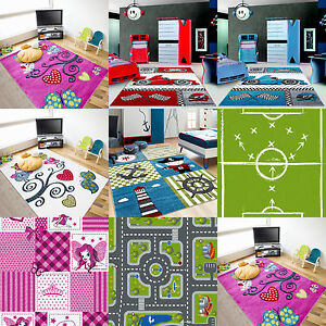 kinderzimmer kinder teppich m dchen jungs schmetterlinge eulen rosa lila weiss ebay. Black Bedroom Furniture Sets. Home Design Ideas