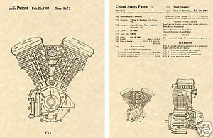 US-PATENT-Harley-Davidson-EVOLUTION-ENGINE-Art-Print-READY-TO-FRAME-HD-EVO