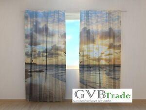 """Fotogardinen """"ocean Küste"""" Fotovorhang Vorhang Gardinen 3d Qualität Fotodruck Curtains, Drapes & Valances"""