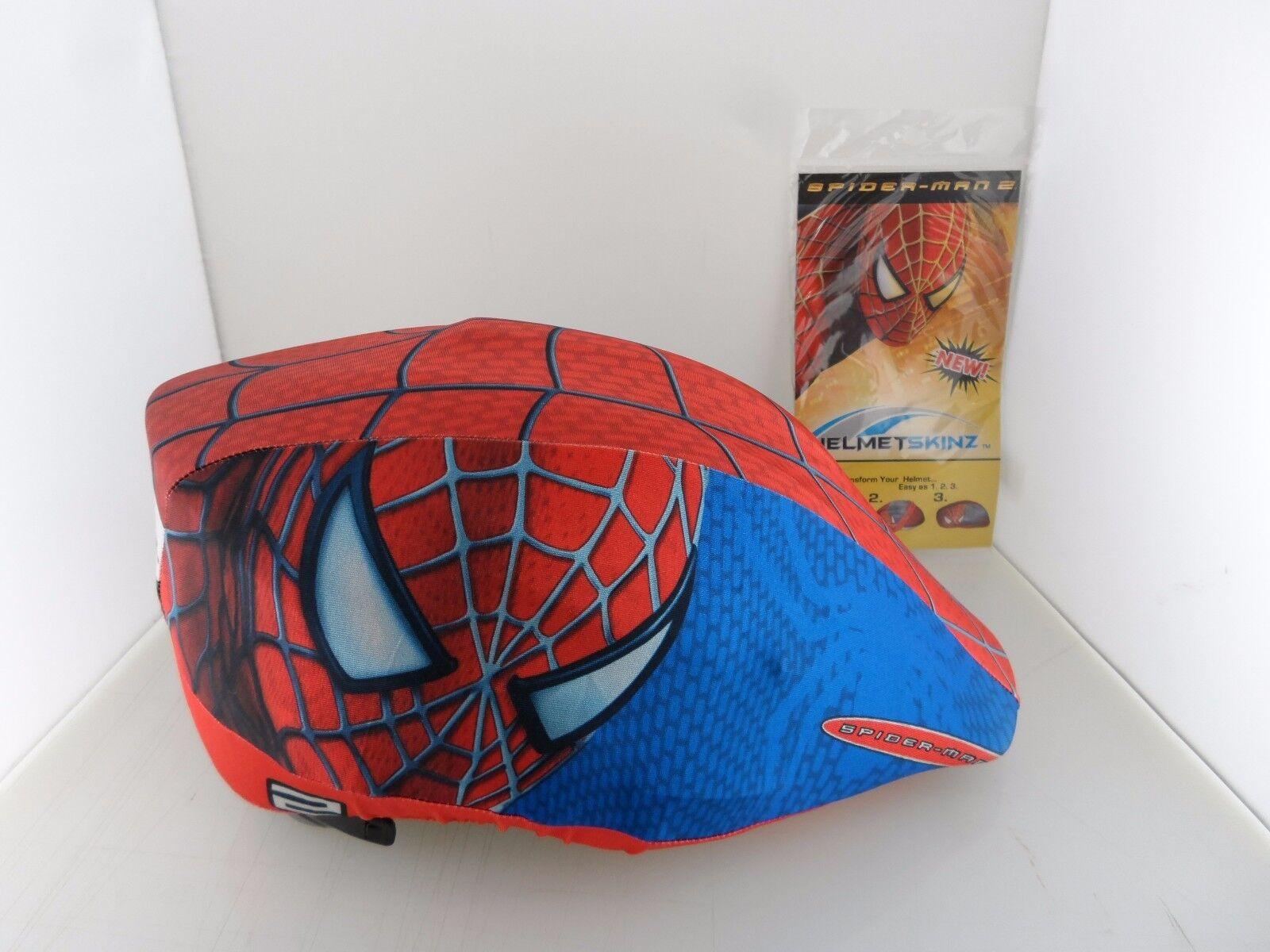 12pcs) Spider Man 2 Bicycle Helmet Skinz Cover Predection (BRAND NEW)