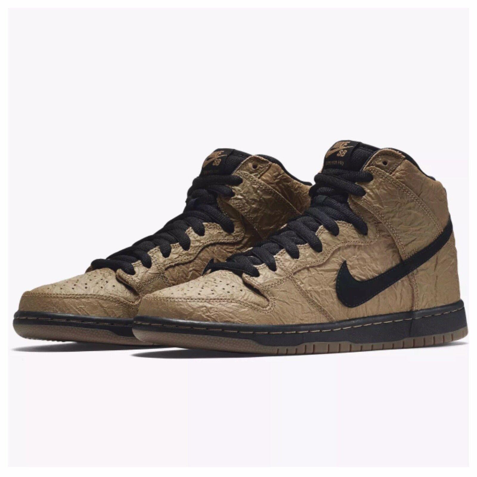 New Nike Dunk High Premium SB Filbert Brown Paper Bag 313171-202 Size 9 Migos