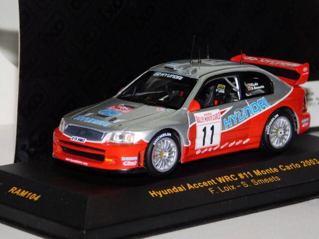 Ixo Hyundai Accent Wrc 11 Rally Monte Carlo 2003 1 43 Ebay