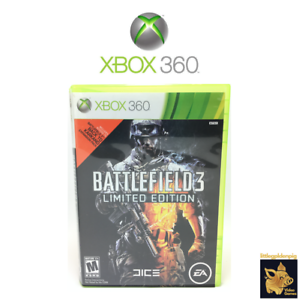 Battlefield-3-Limited-Edition-2011-Xbox-360-Game-Disc-Case-Manual-Tested-Works