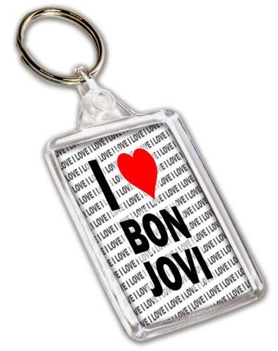 I Love Bon Jovi Keyring Gift Christmas Birthday Stocking Filler