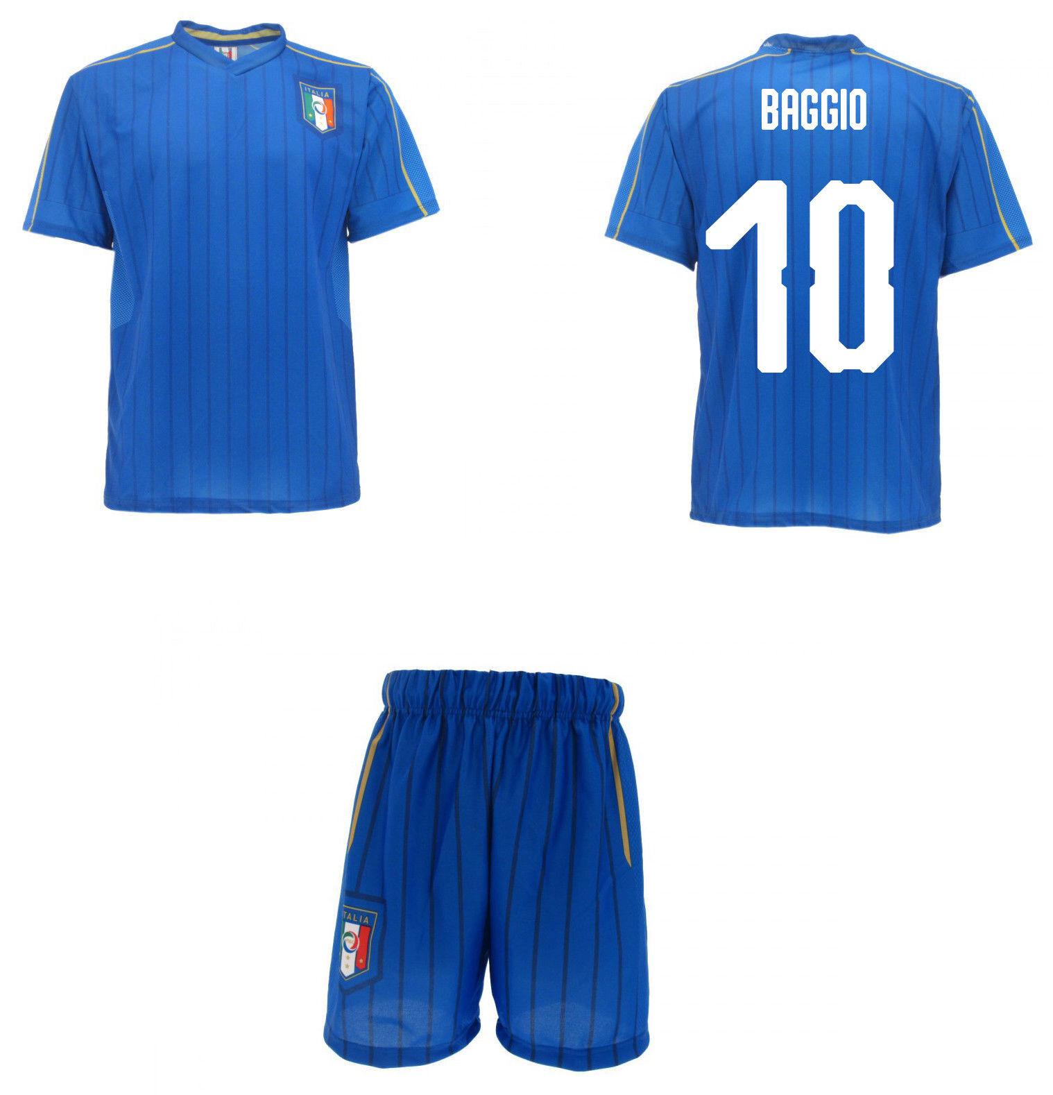 Set offizielle Italien Baggio Baggio Baggio Trikot + Shorts FIGC roberto 10 Zopf a6821f