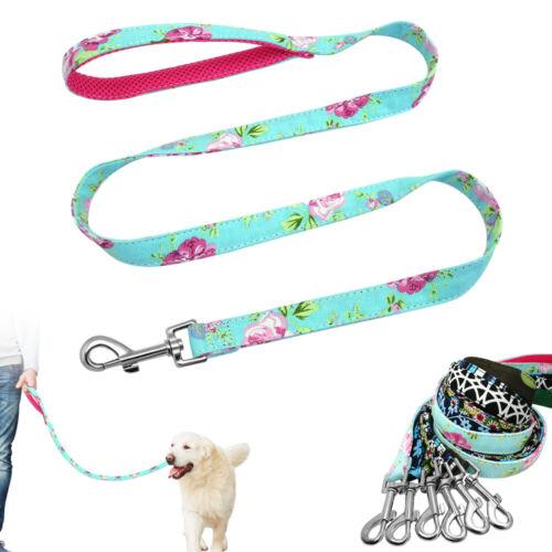 Skin-friendly Dog Leash Printing Nylon cotton With Metal Snap Pet Walking Lead