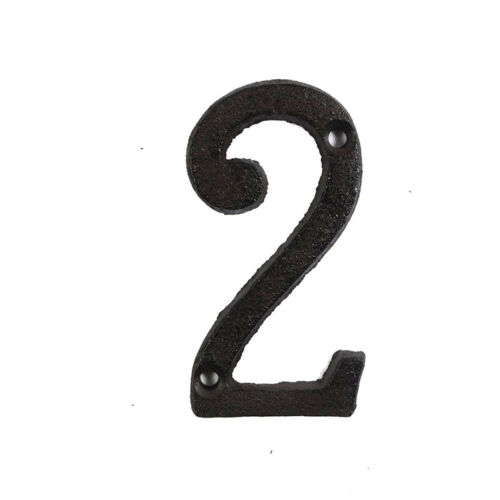 Metal Letters+Numbers Cast Iron House Sign Doorplate DIY Cafe Wall Decoration