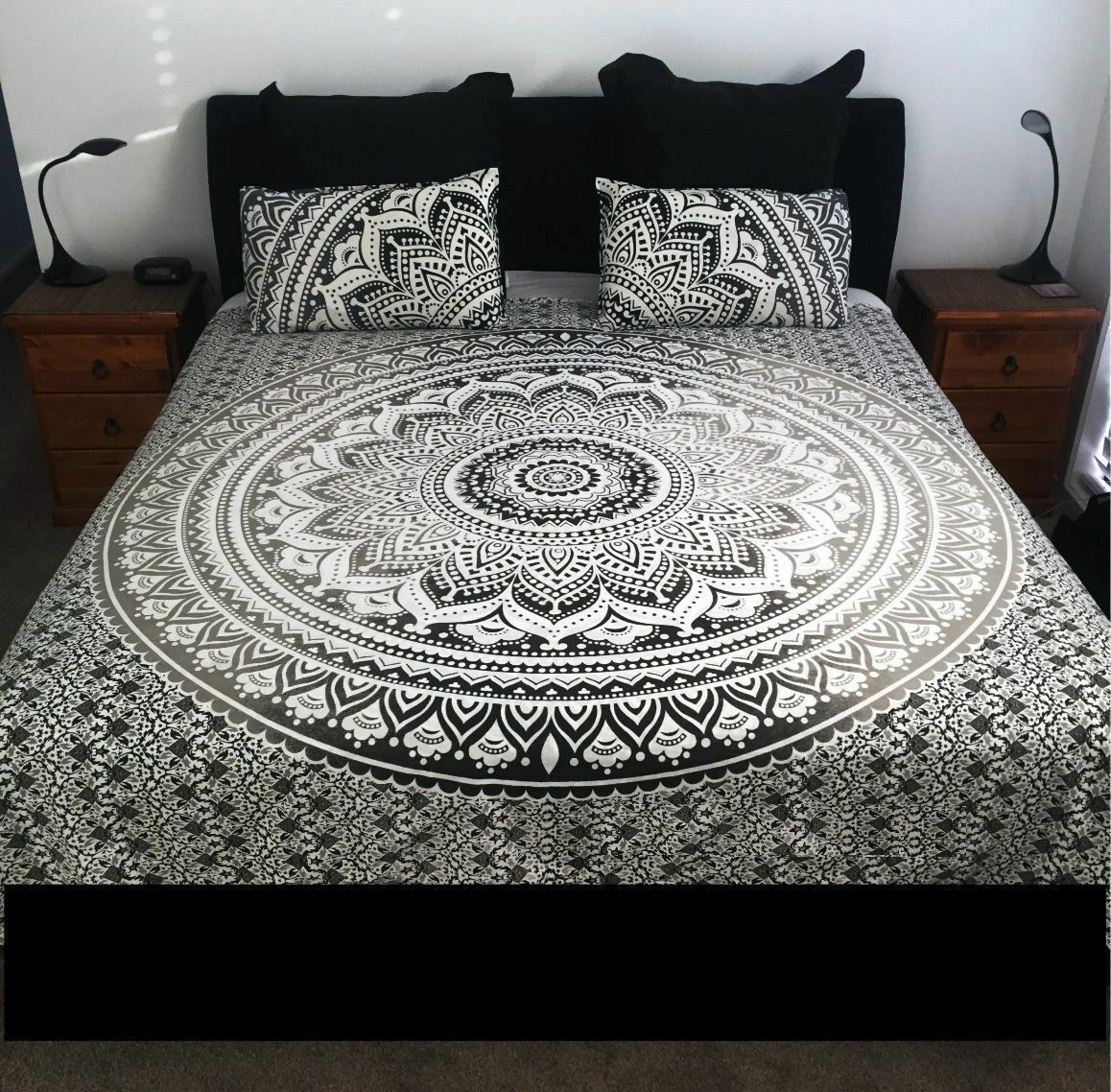 Bohemian Mandala Bedding Quilt Duvet Doona Cover Set Queen Size Comforter Set 0