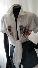 Vintage 80's Grunge Embroidery Oversize Shirt Blouse Jacket Hippy Boho Festival