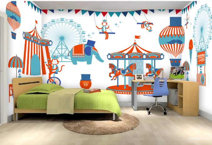 3D Cartoon Playground Art 2837 Wall Paper Wall Print Decal Wall AJ WALLPAPER CA