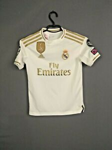 Real-Madrid-Jersey-Home-Kids-Boys-9-10-y-Shirt-Adidas-DX8838-ig93