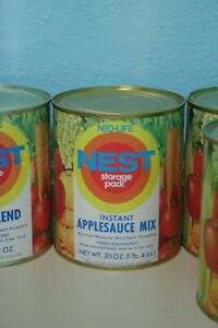 Vintage-1970s-Neo-Life-NEST-Instant-Applesauce-Mix-Can-Full-Unopened-Storage