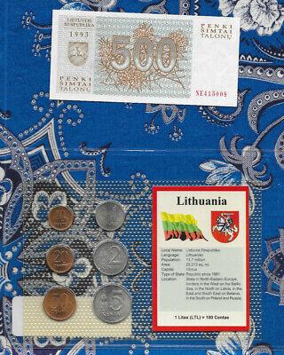 LITHUANIA 500 TALONU 1993 P46 UNCIRCULATED