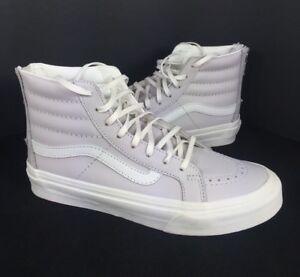 f8bad504c3 NEW Vans SK8 Hi Top Leather Slim Zip Shoes Unisex Womens Wind Chime ...