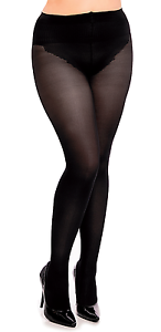 Glamory Silk Skin 50 Anti Cellulite Tights 50 Denier Style 50128 Black to 4XL