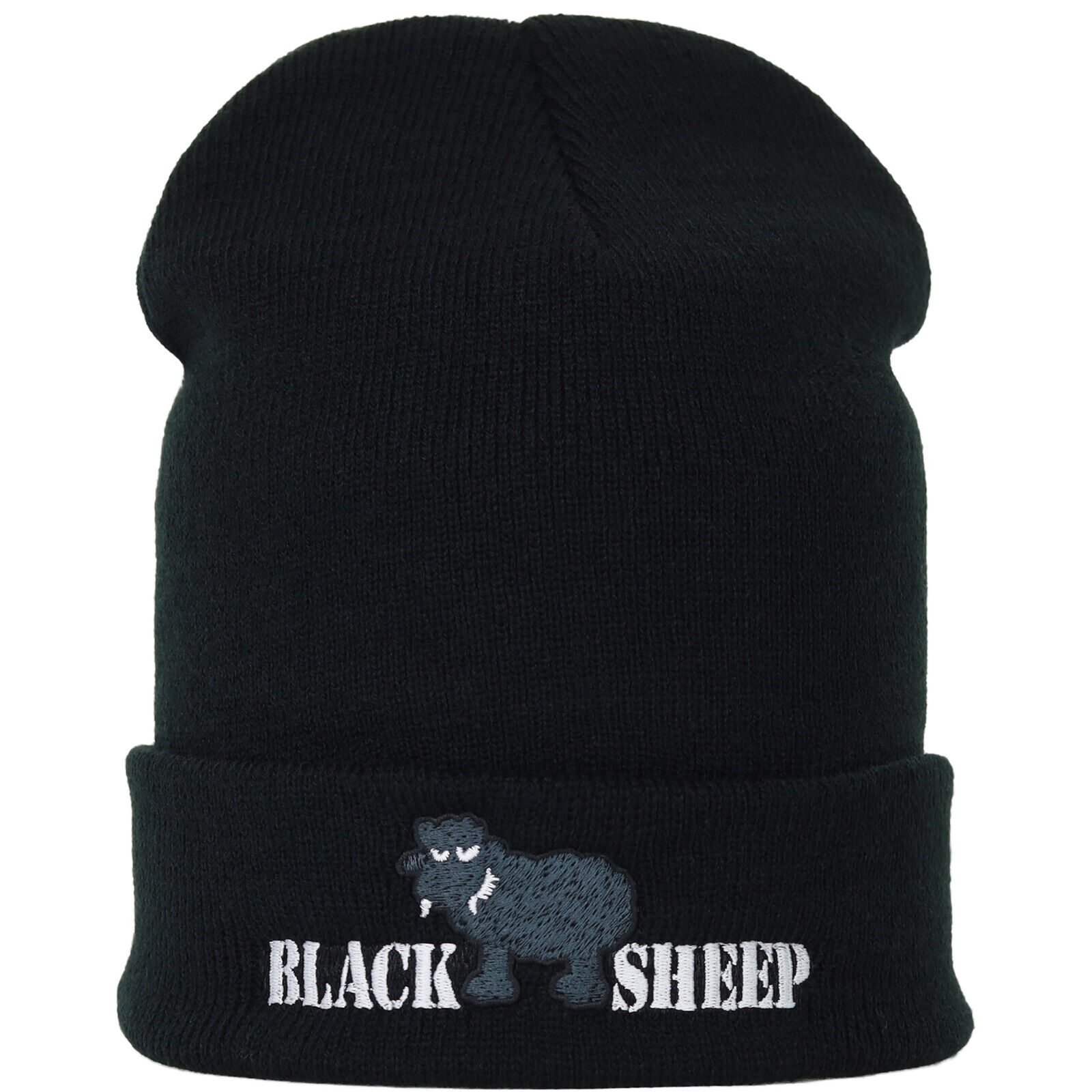 Black Sheep Knitted Hat Funny Wool Hat Bonnet Beanie Winter Unisex Ladies/Mens