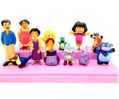 12 pcs Dora The Explorer Figure Set Toy Playset/Cake Topper Figurines