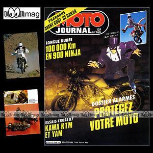 MOTO-JOURNAL-N-769-KTM-250-MX-KAWASAKI-GPZ-900-ZX-NINJA-KX-60-80-amp-500-1986