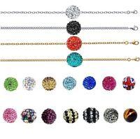 Collier Style Shamballa De Bijouterie Chaine Argent Ou Plaqué Or Neuf Au Choix