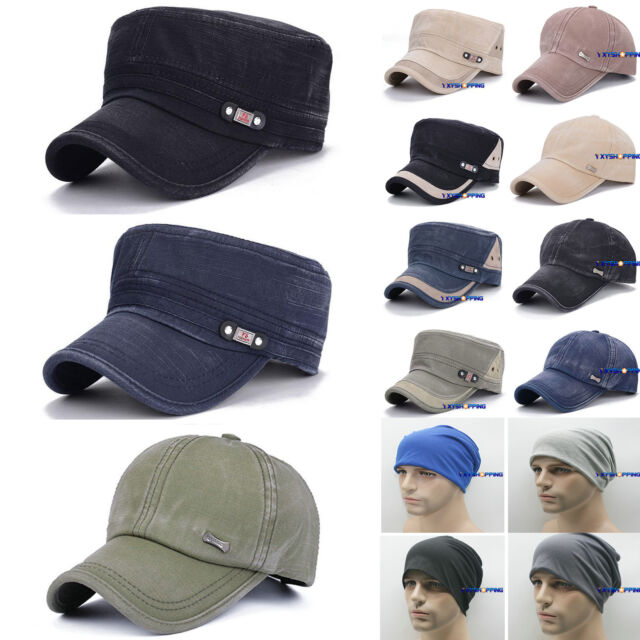 Men's Combat Military Army Visor Baseball Cap Cadet Flat Adjustable Sports Hats