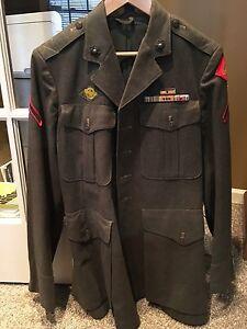 USMC WWII Named 4th Marine Division Uniform Iwo Jima   eBay  Usmc