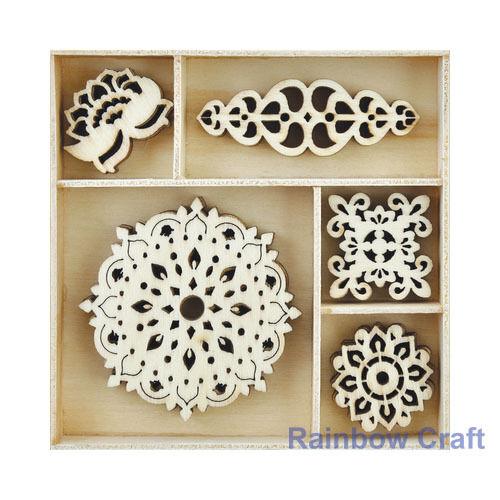 Kaisercraft Wooden Flourish packs storage box 74 selections