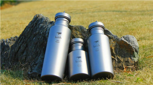 Keith Titanium Water Bottle Cup Cycling Camping Ultralight Volume 400 550 700 ml